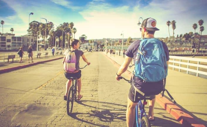 Santa Cruz California bike beach friends