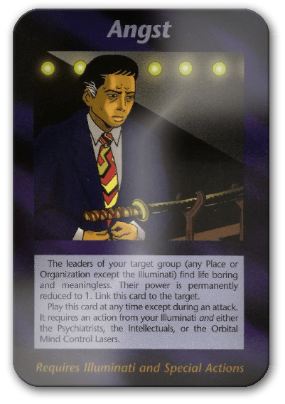 Angst from Illuminati Card Game
