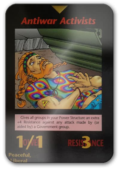 Anti-War Activist Illuminati Card Game