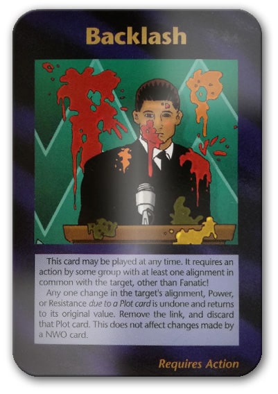Backlash Illuminati Card Game