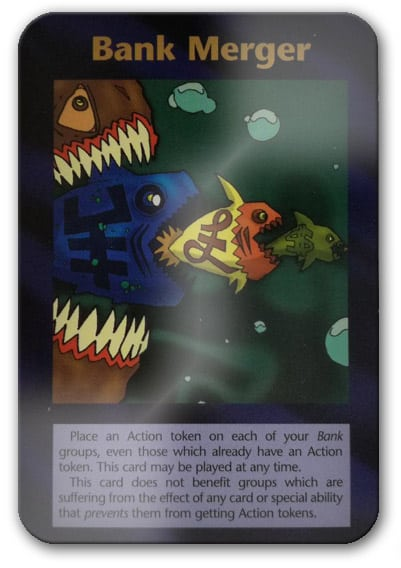 Bank Merger Illuminati Card Game