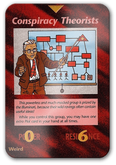 Conspiracy Theorists Illuminati Card Game