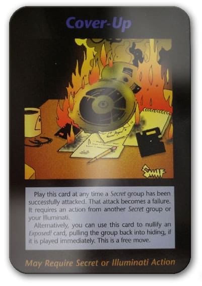 Cover Up Illuminati Card Game