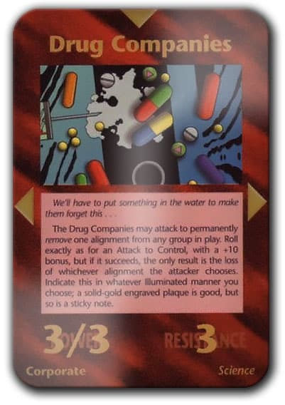 Pharma Companies Illuminati Card Game