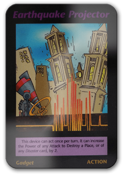 Earthquake Projector Illuminati Card Game