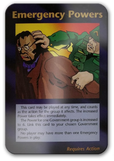 Emergency Powers Illuminati Card Game
