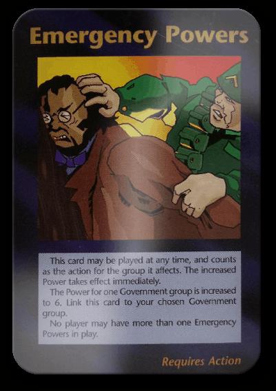 Emergency Powers Illuminati Card Game