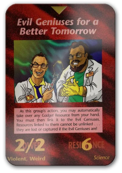 Evil Genius Illuminati Card Game