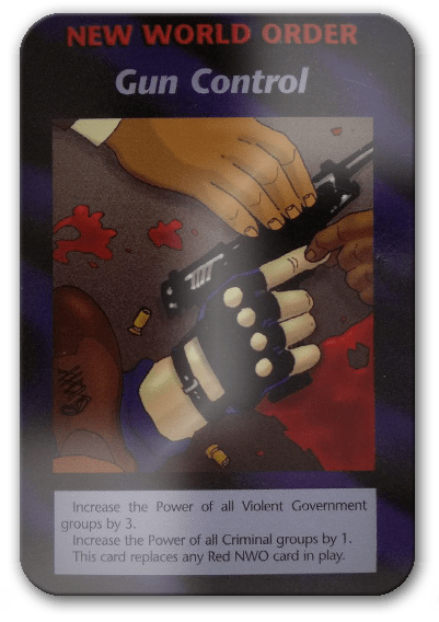 Gun Control Illuminati Card Game