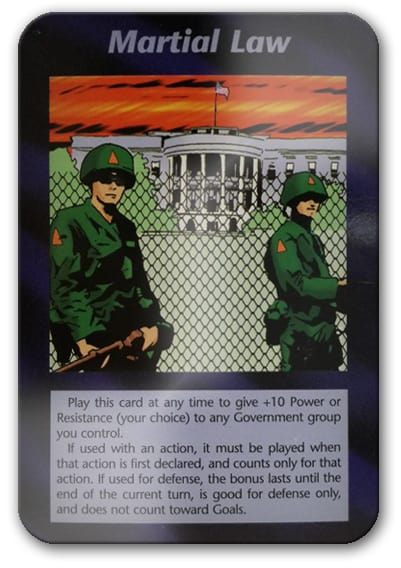Martial Law Illuminati Card Game