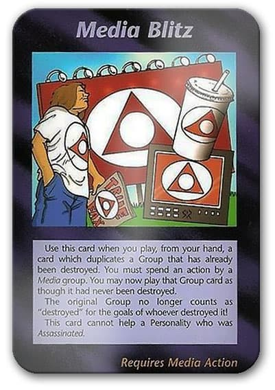 Media Blitz Illuminati Card Game