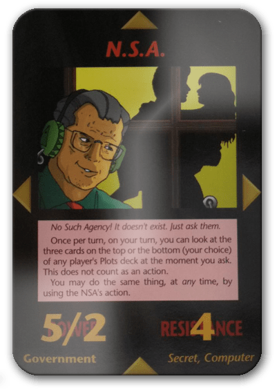 NSA Illuminati Card Game