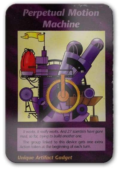 Perpetual Motion Machine Illuminati Card Game