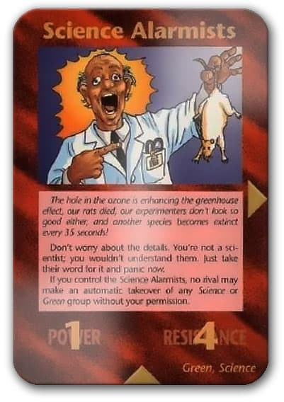 Alarmist Scientists Illuminati Card Game