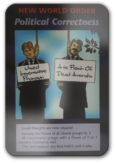 Political Correctness Illuminati Card Game