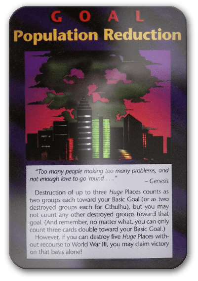 Population Reduction Illuminati Card Game