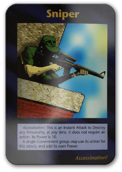 Sniper Illuminati Card Game