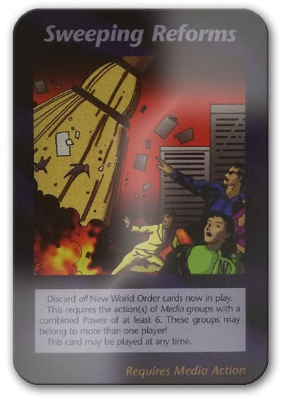 Sweeping Reforms Illuminati Card Game