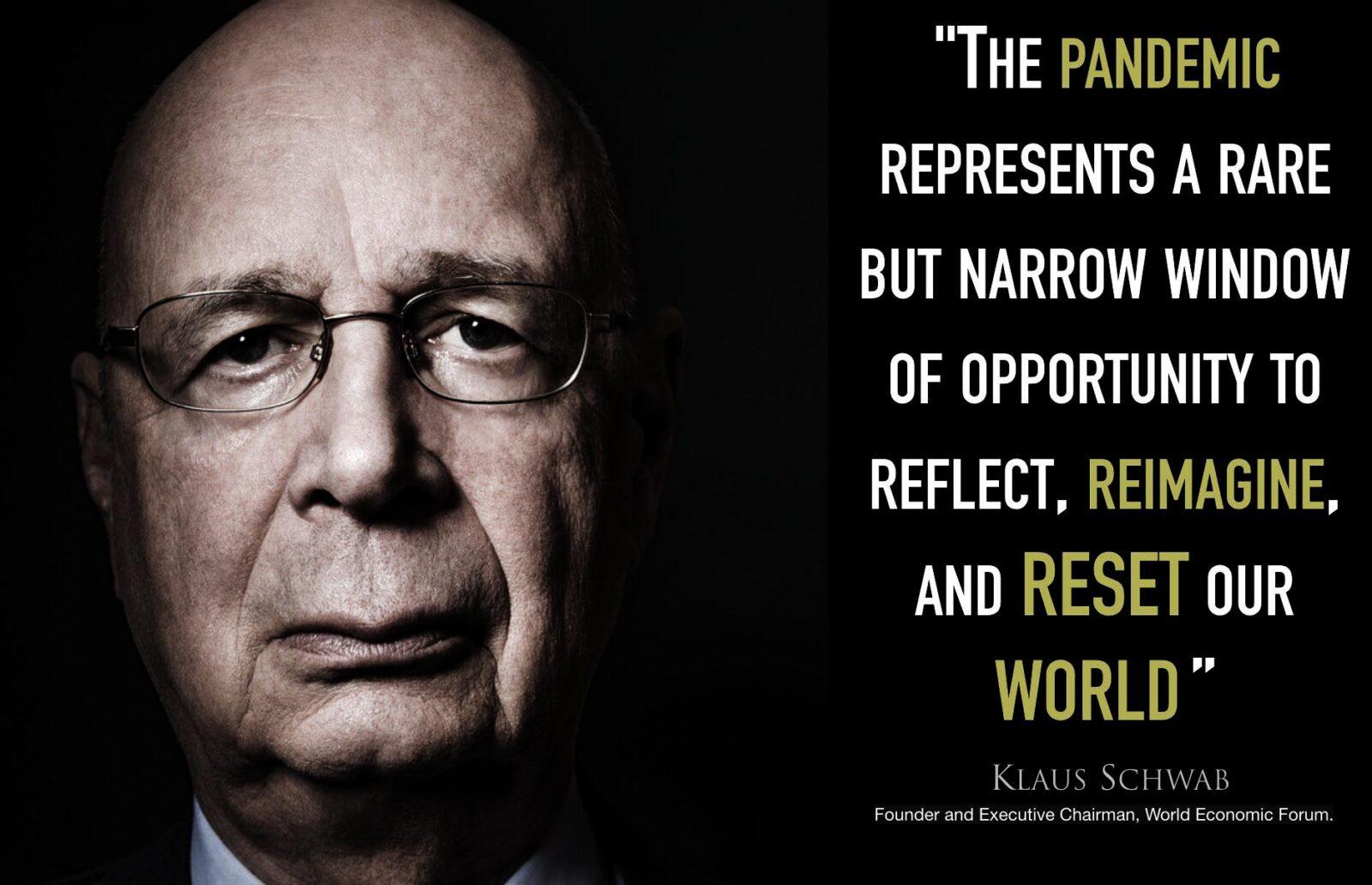 Klaus Schwab WEF Great Reset