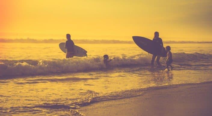 Surfing El Conejo Beach Baja California