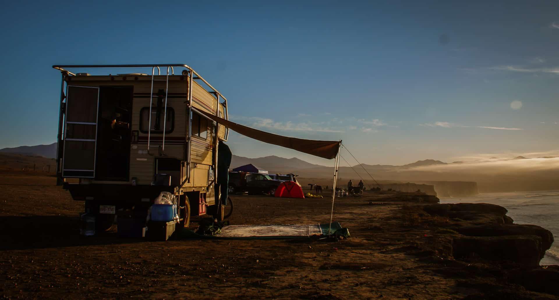 Camping at Punta San José Baja Surfing