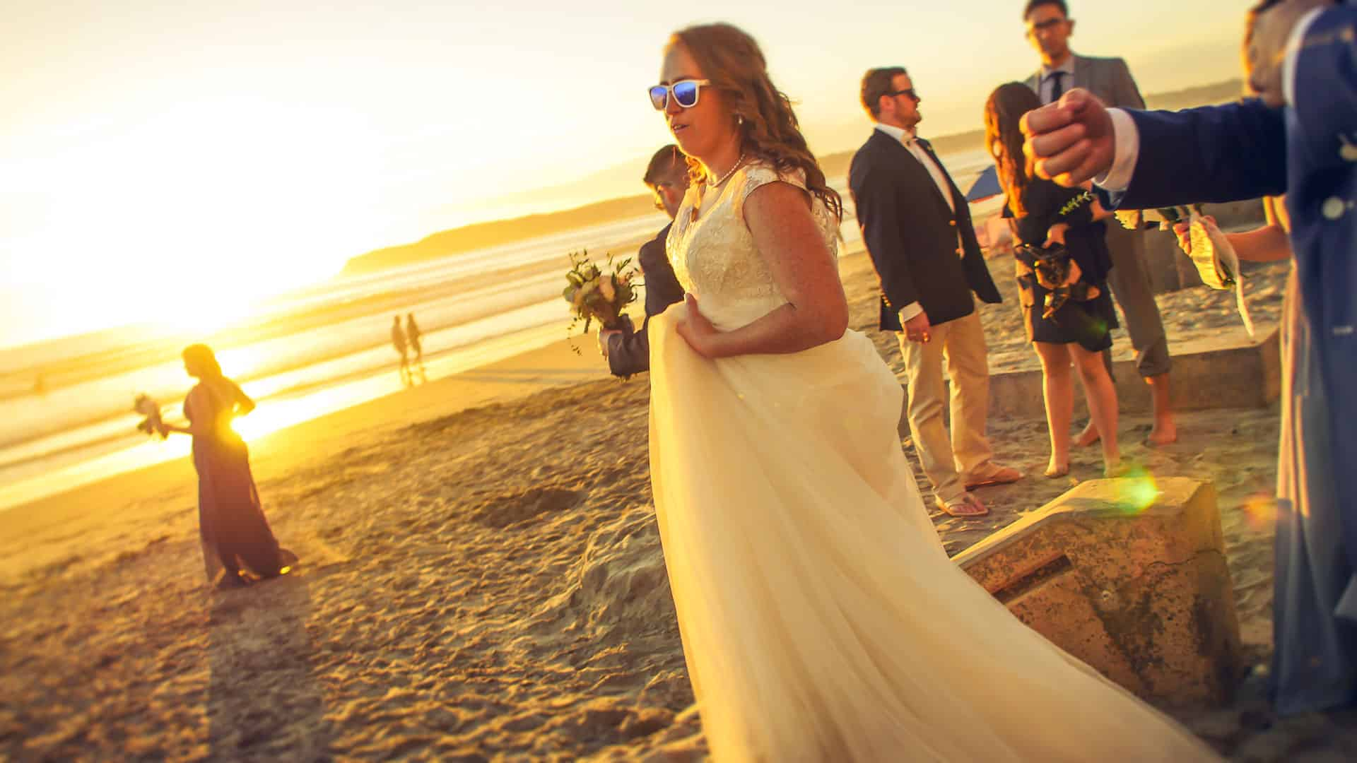 Bride at Sundown San Diego