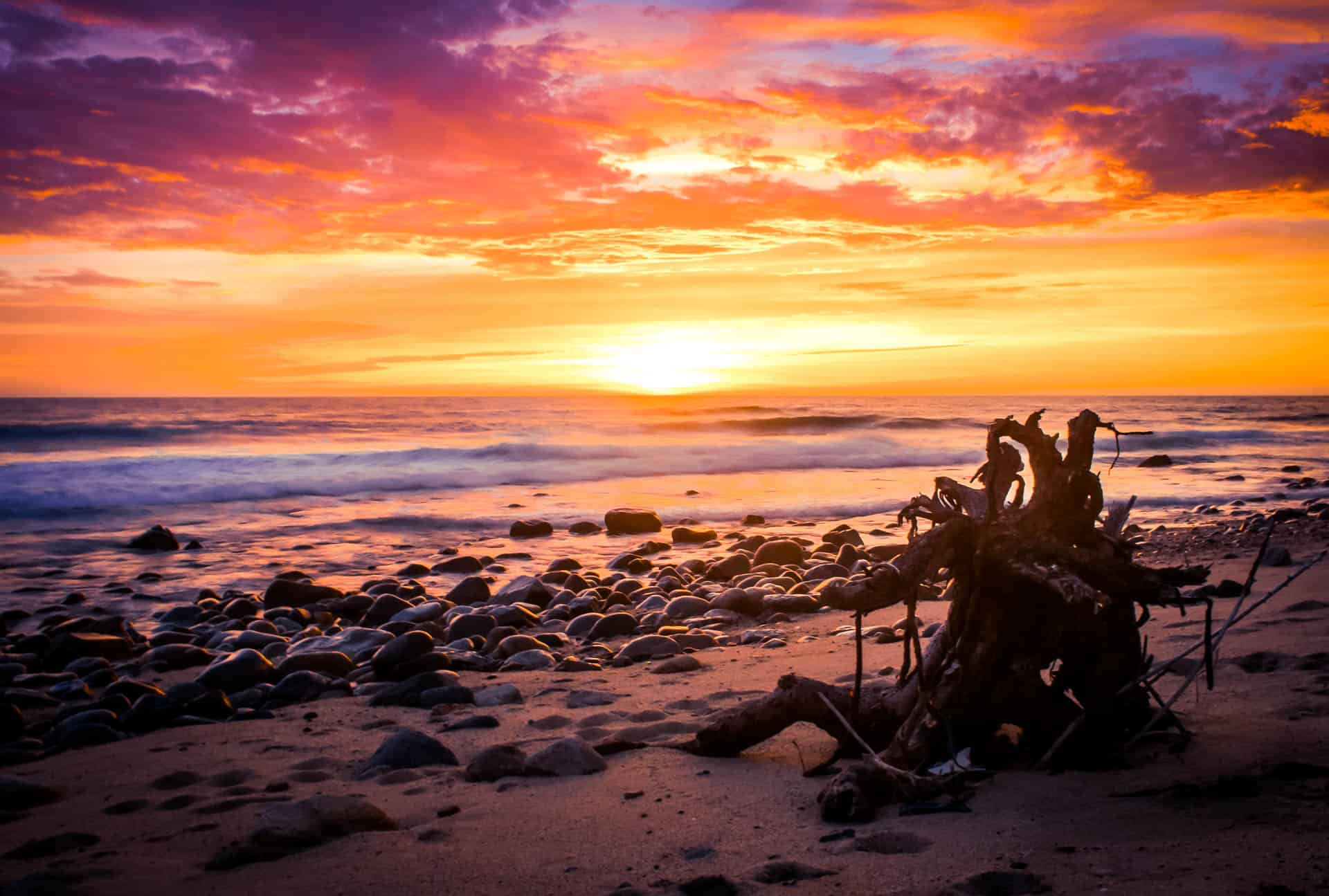San Pedrito Beach Sundown Road Trip Photography