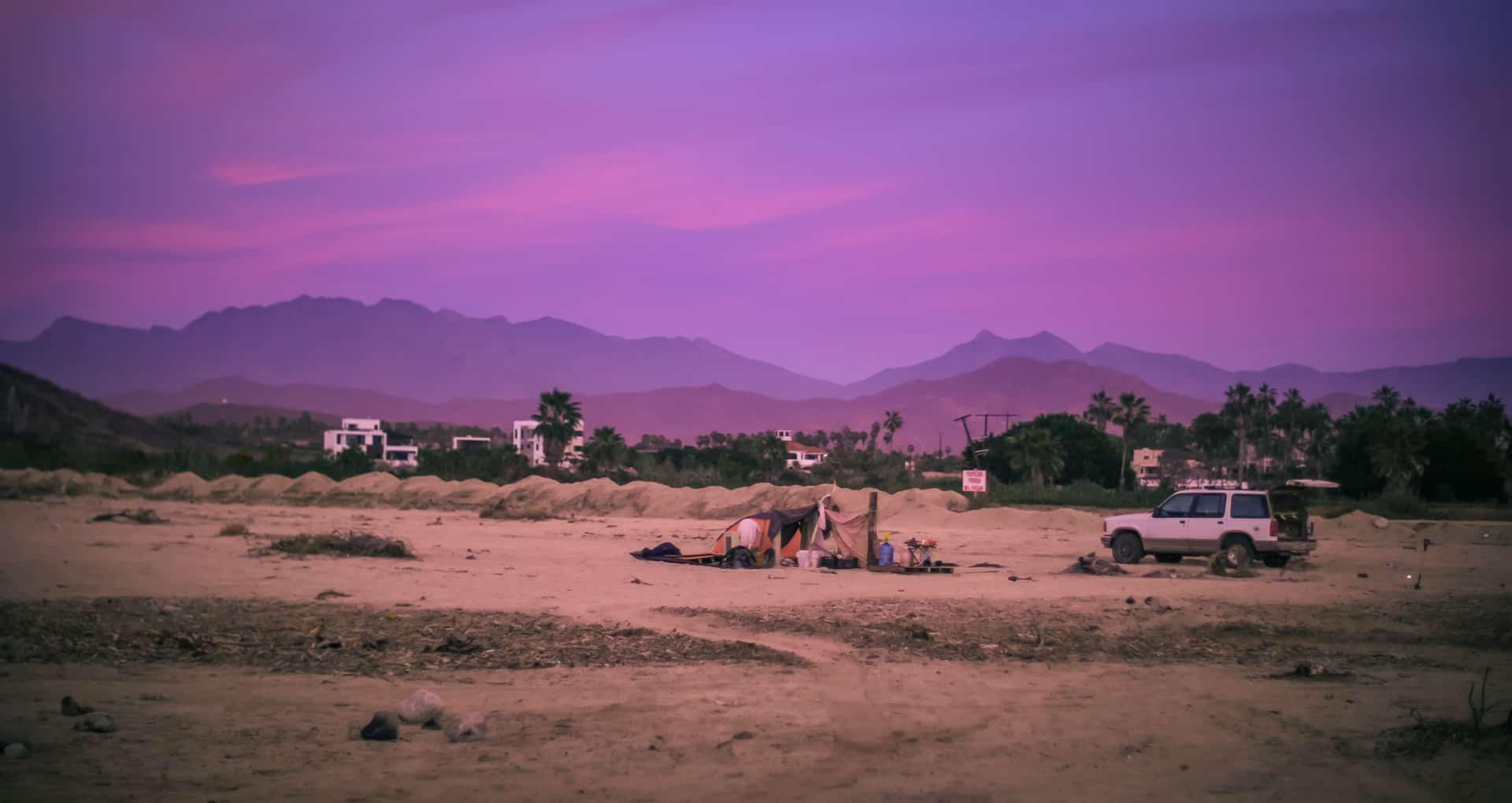 Sundown San Pedrito Beach El Pescadero Todos Santos Baja California Sur