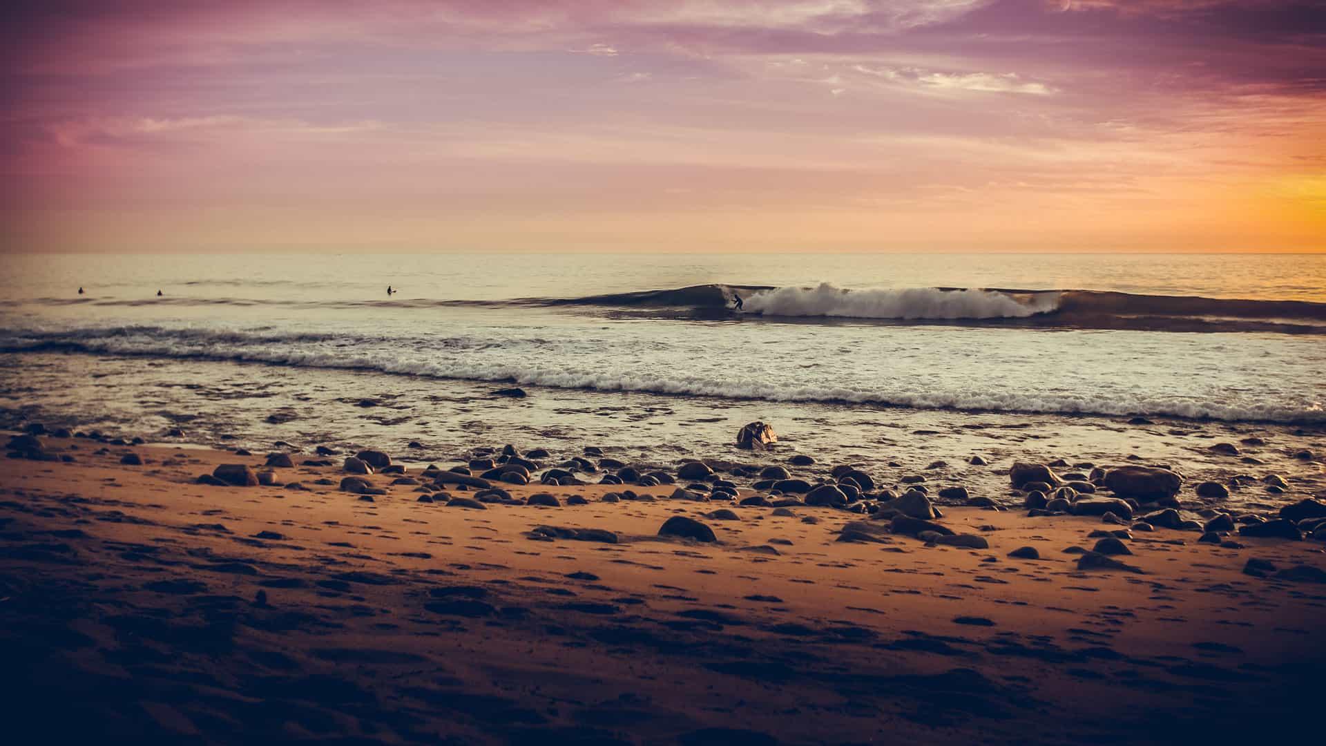 San Pedrito Beach El Pescadero Todos Santos Baja California Sur Surfing Sundown