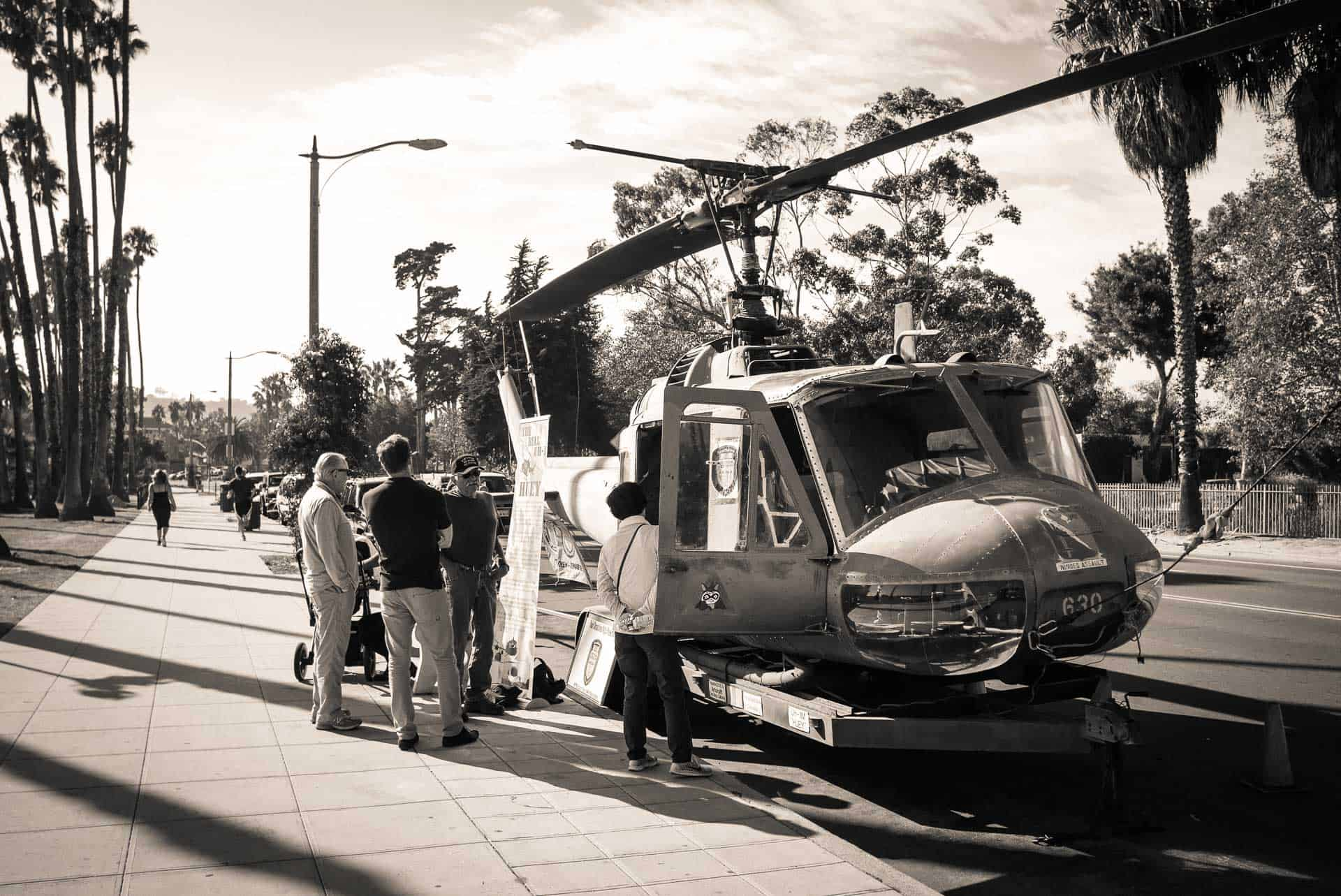 huey helicopter santa barbara california photography road trip