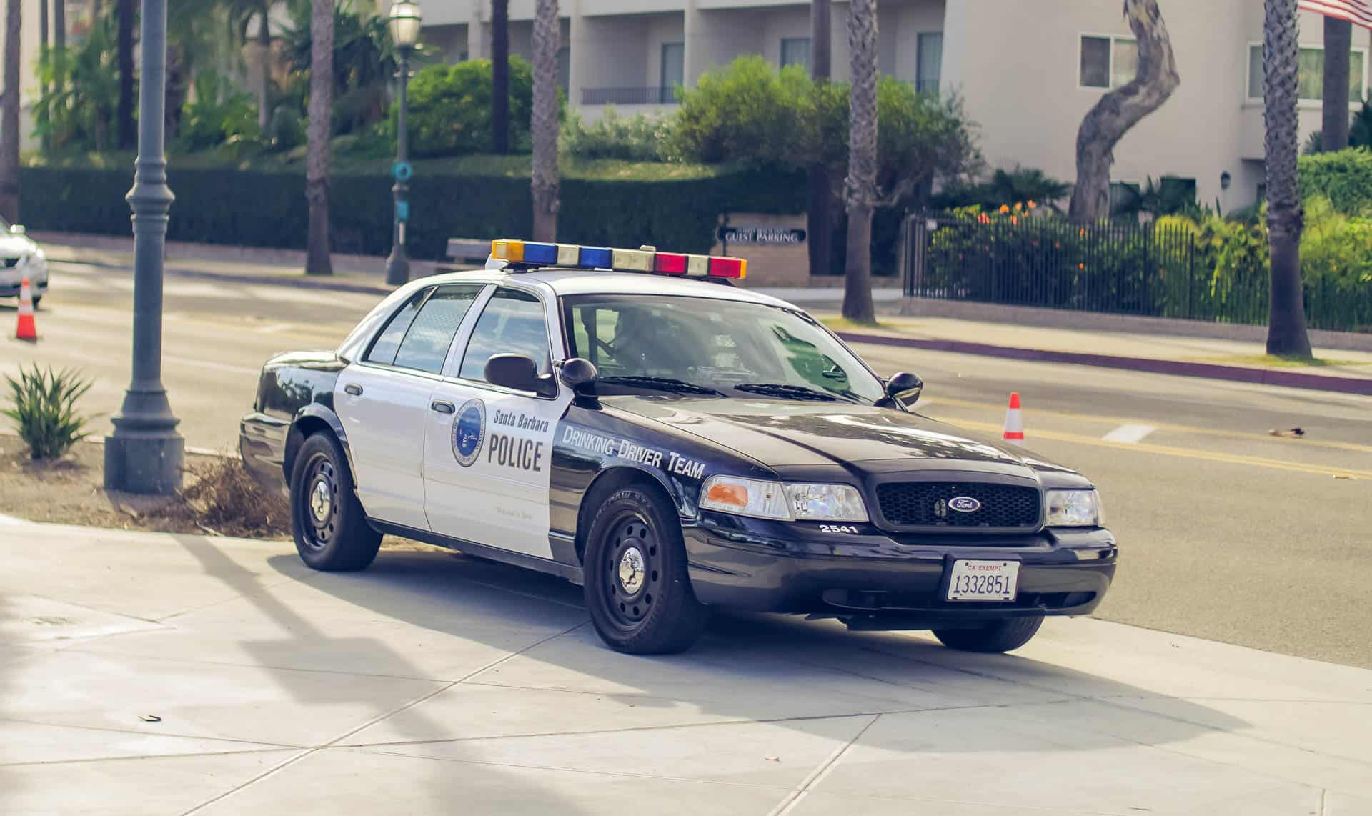 police car santa barbara california photography road trip
